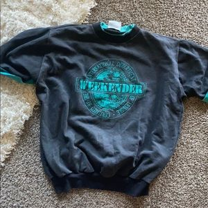 3/4 sleeve sweatshirt retro